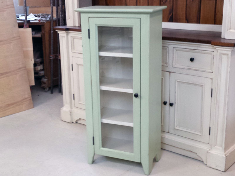 Bookshelf / Painted Hutch / Shabby Cabinet / Cottage Chic Jelly Cabinet /  Cottage Kitchen / Bathroom Cabinet