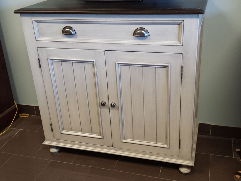 Buffet / Kitchen Side Board / Kitchen Storage / Washstand / Distressed Wood Cabinet