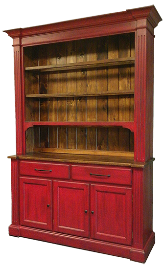 Classic Buffet/Hutch in red