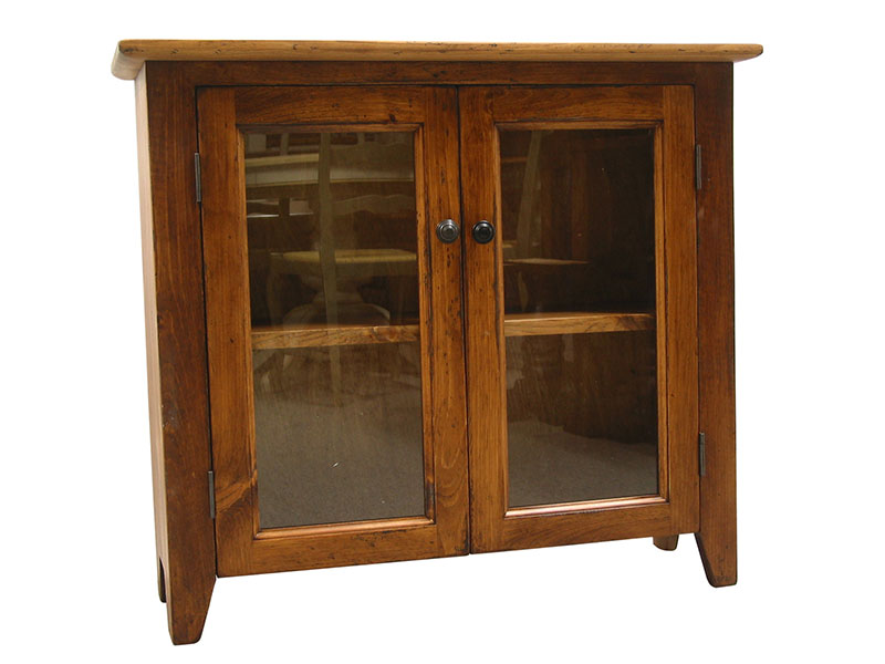 Country Credenza / White Cupboard / Display Cabinet / Small Buffet / Cottage Chic Hutch / Bookshelf / Wood Bookcase