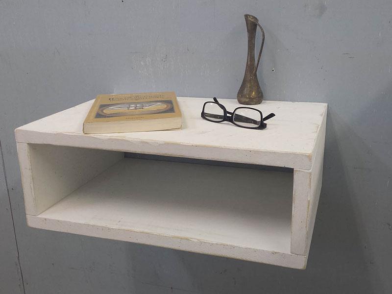 Floating Nightstand / Rustic Shelf / Night Stand / Mid Century / Scandinavian Style / Urban Table / Entryway Shelf / Modern Bedside Table