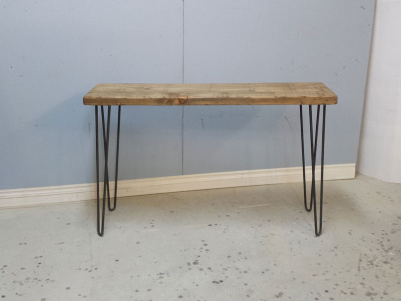 Hallway Table / Rustic Entrance Table / Entryway Table / Reclaimed Wood Side Table /Hairpin Steel Legs Table / Sofa Table