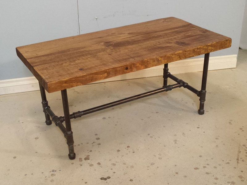 Industrial Pipe Coffee Table / Reclaimed Wood Coffee Table