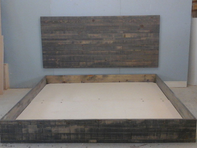 King Size Bed Frame / Industrial Style Bedroom / Rustic Urban Bed /King Size Platform Bed
