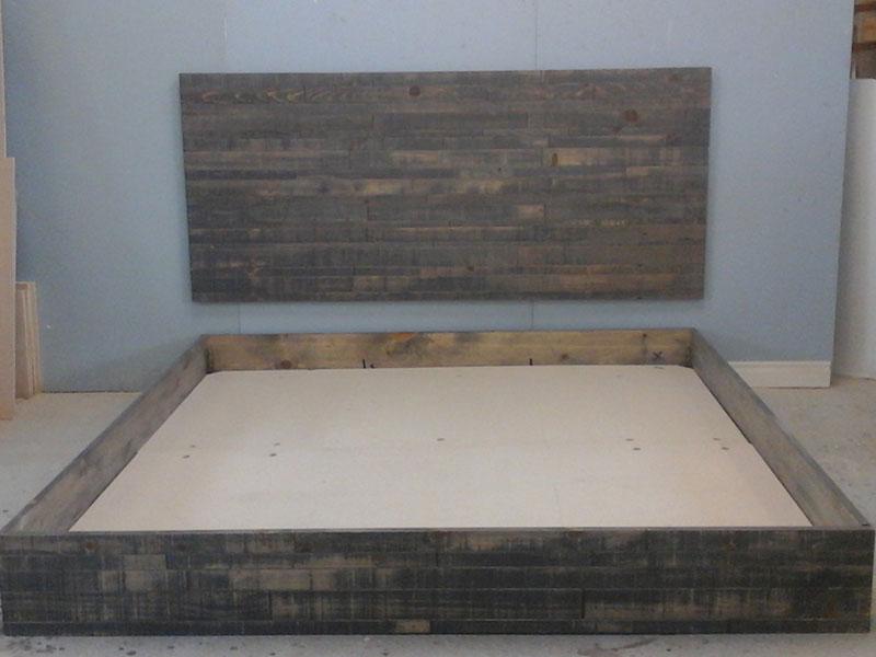 King Size Bed Frame / Industrial Style Bedroom / Rustic Urban Bed /King Size Platform Bed