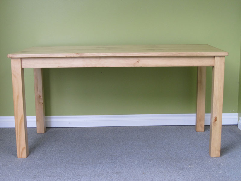Pine Writing Desk / Natural Wood Kitchen Table / Small Dining Table / Writing Desk / Small Wooden Desk