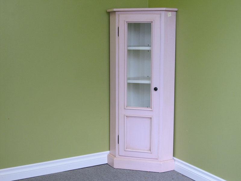 Pink Corner Cabinet / Corner Cupboard