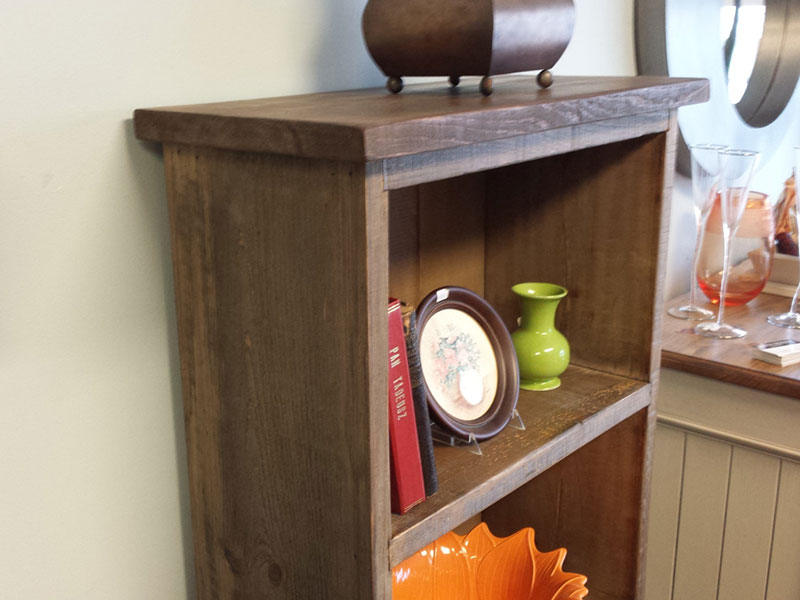 Reclaim Wood Bookshelf / Rustic Furniture / Weathered Wood Hutch / Bathroom Bookshelf