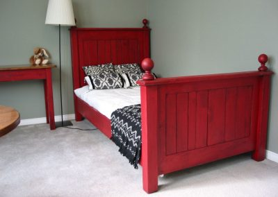 Red Twin Sized Bed