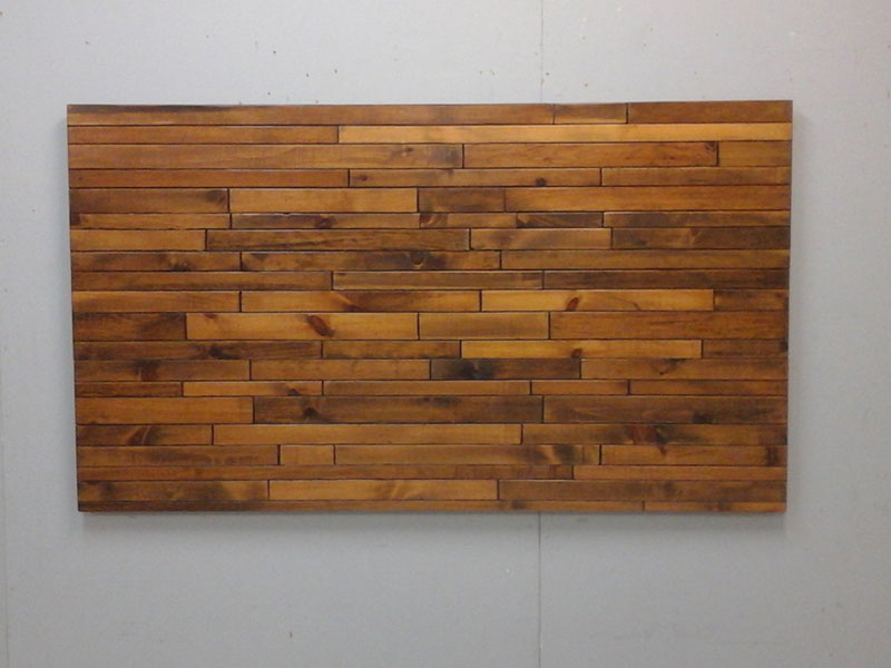 Rustic Wood Bed Headboard / Natural Wood Headboard / Art Wall / Cottage Bed / Modern Bed / Free Shipping