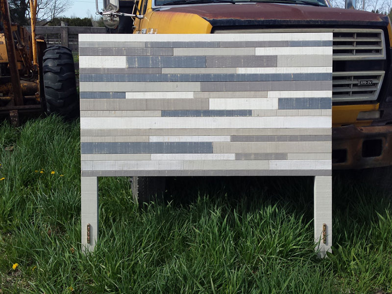 Rustic Wood Headboard / Queen Size Headboard