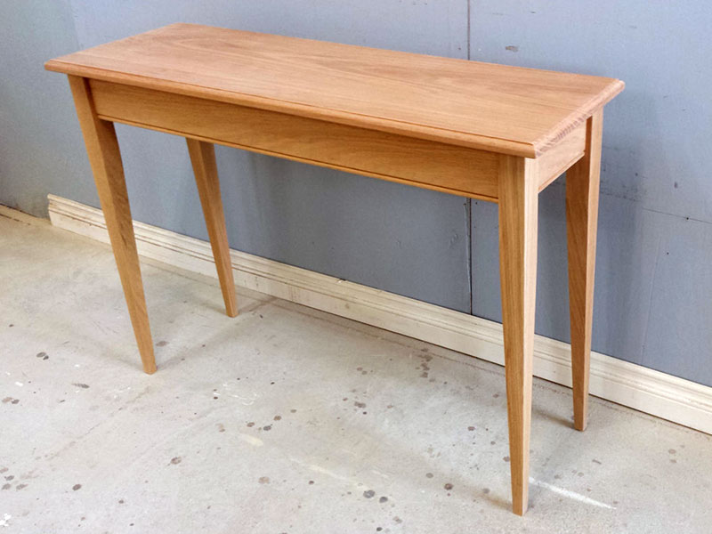 Table / Hallway Table / Oak Side Table / Solid Wood Sofa table / Unfinished Wooden Table