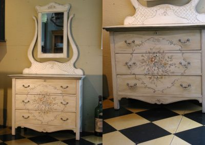 Vintage Dresser With Mirror