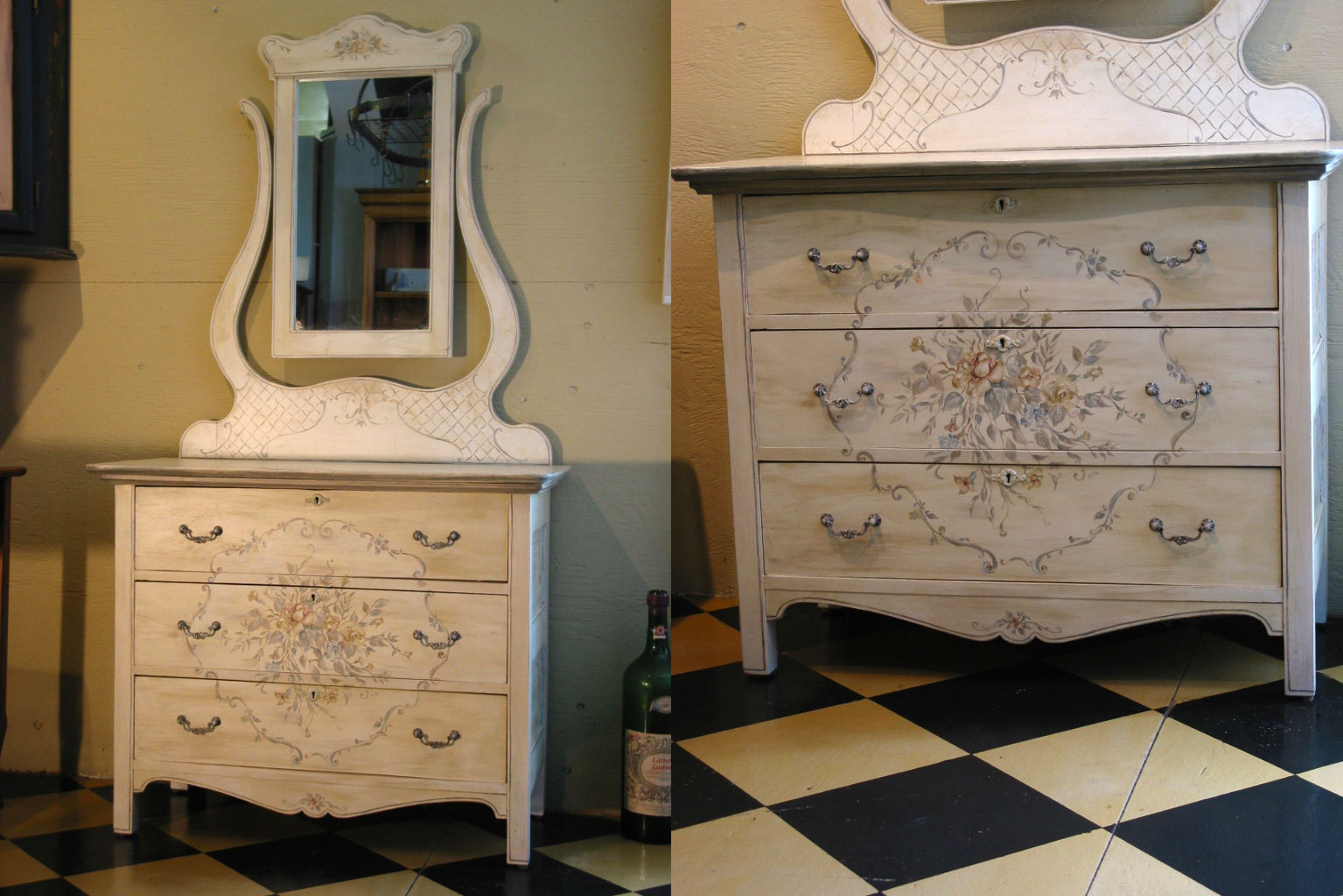 Vintage Dresser With Mirror Harvest Treasures