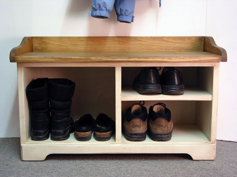 Wooden Storage Bench / Shoe Bench / Beach Home Decor / Shoe Rack